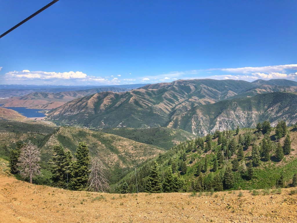 View from the top of Bishops Bowl during our scenic zipline tour at Sundance Mountain Resort.