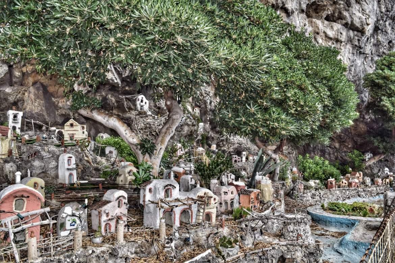 Roadside Nativity along Amalfi Coast while traveling from Sorrento to Amalfi