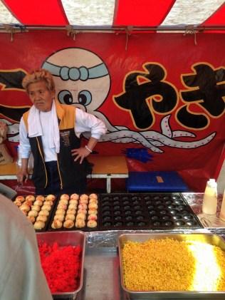 The grumpiest takoyaki seller