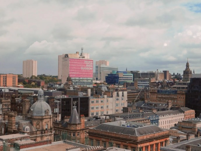 View of Glasgow from roof of Museum.