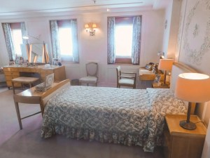 Queen's Room on the Royal Yacht with her bed and dresser.
