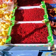 Vibrant and Fresh Berries in the Central Market area.