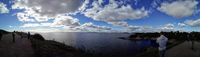 Exploring Suomenlinna with people from The Yard Hostel