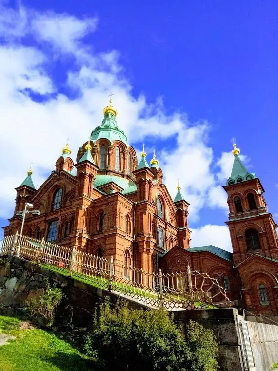 Uspenski Cathedral, where East meets West. The largest Orthodox Church in Western Europe.