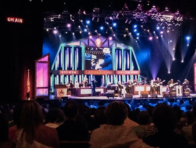 Live radio show at the Grand Ole Opry June 10., 2014