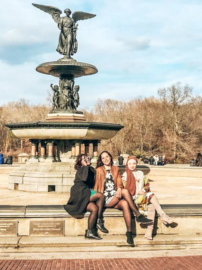 Central Park with friends travel blogger Sarah Fay