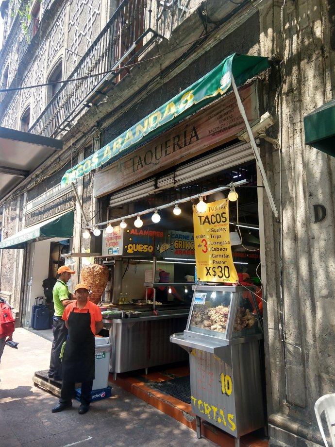 Tacos Al Pastor in Mexico City are a food staple. Mexico City CDMX