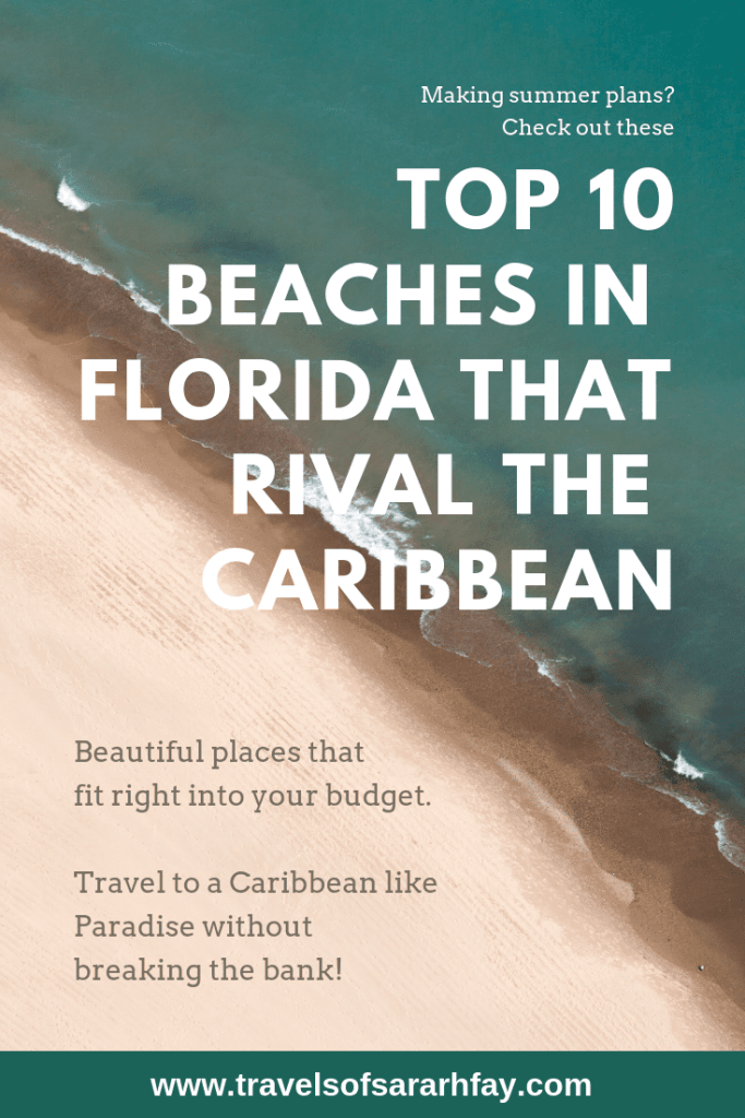Pin for the Top 10 Beaches in Florida that rival the Caribbean.