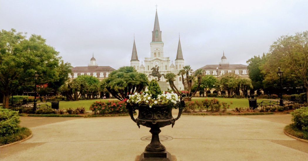 Jackson Square in New Orleans USA.