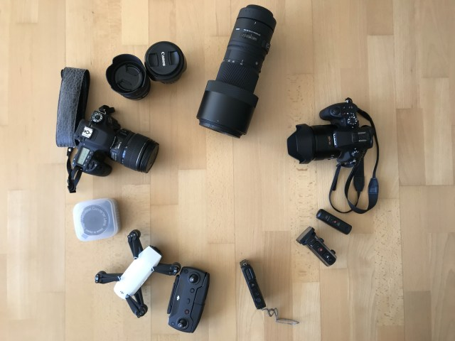 Fotoausrüstung für die Reise