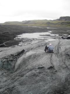 105 Looking down the glacier