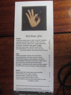 Serous Pie Pizzas Seattle