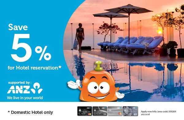 diskon 5% reservasi hotel di pegipegi Promo Hotel Kartu Kredit ANZ