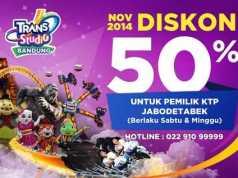 Trans Studio Bandung Diskon 50%