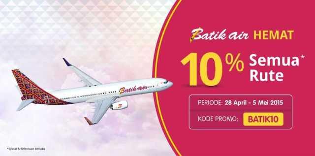 promo tiket pesawat batik air diskon 10% dengan kode promo tiket.com