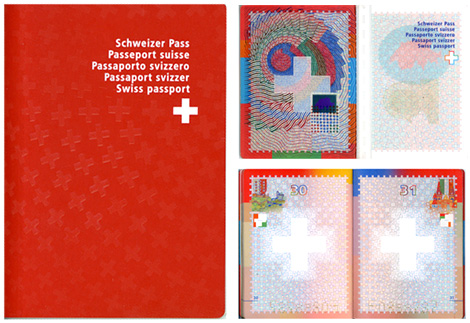Swiss passport design