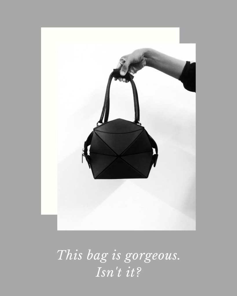 Magic of Black and White with Cube Shaped Bag