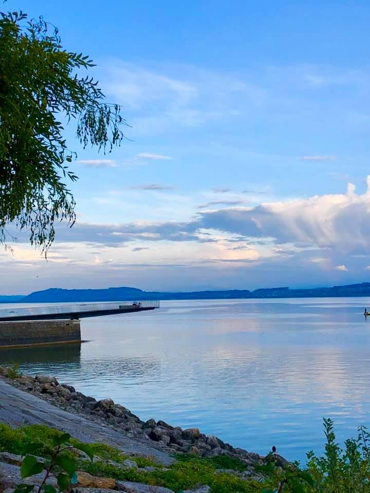 The lake at Neuchâtel Switzerland
