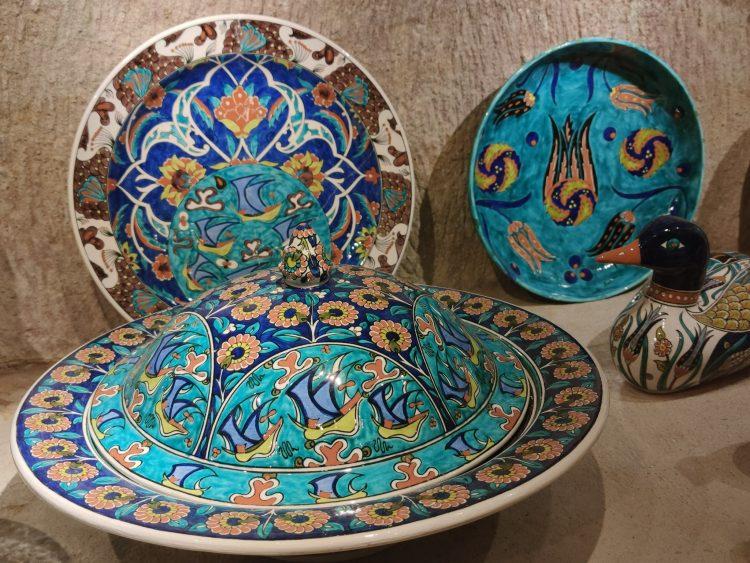 ceramics at Underground Ceramics Museum Avanos