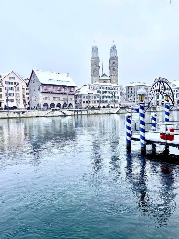 A Postcard from Zurich Under a Blanket of Snow