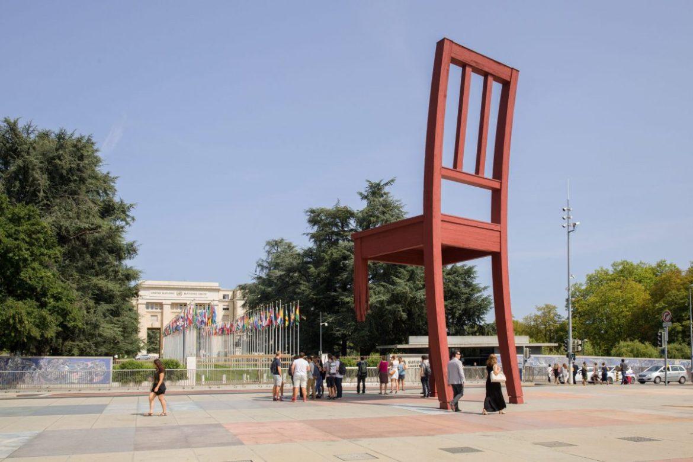 The Broken Chair in Geneva - A Powerful Landmark Full of Symbolism