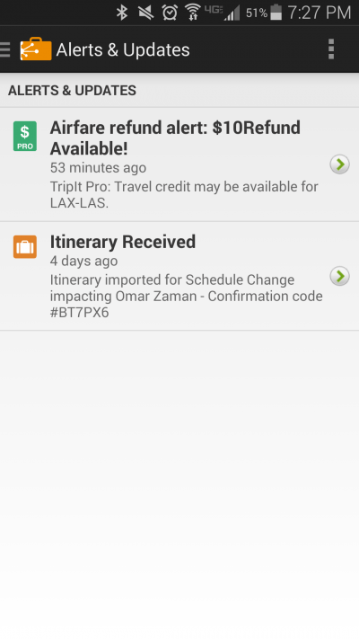 Another Benefit of TripIt Pro: Southwest Refund Alerts