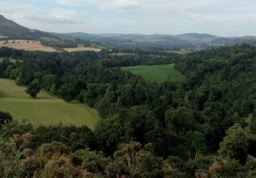 scott's view near melrose scottish borders.