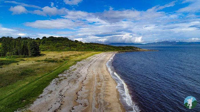 saddell beach drone kintyre peninsula