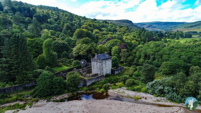 saddell castle drone