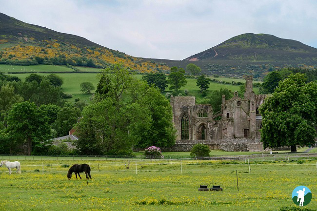 melrose abbey ruins scottish borders itinerary