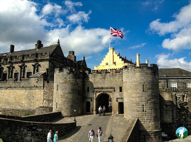 stirling castle scotland entrance