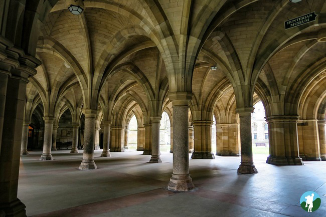 glasgow university campus cloisters