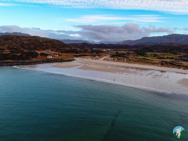 camusdarach beach drone aerial photography