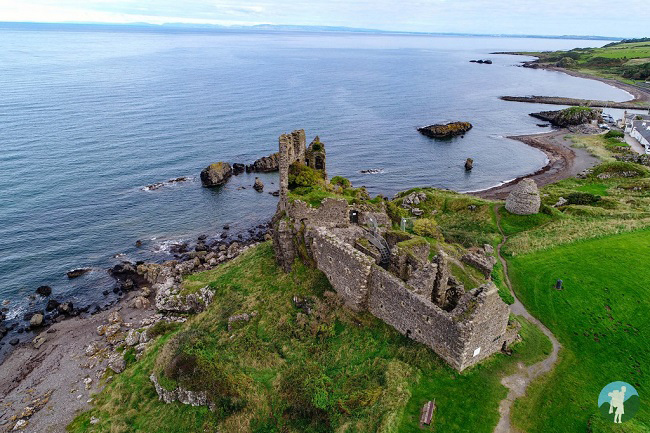 dunure castle drone outlander