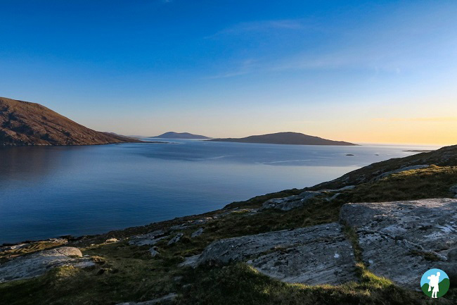 sunset western isles harris