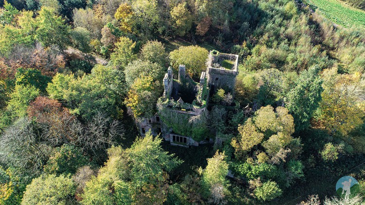 milkbank house drone aerial