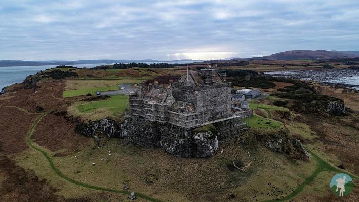 duart castle drone
