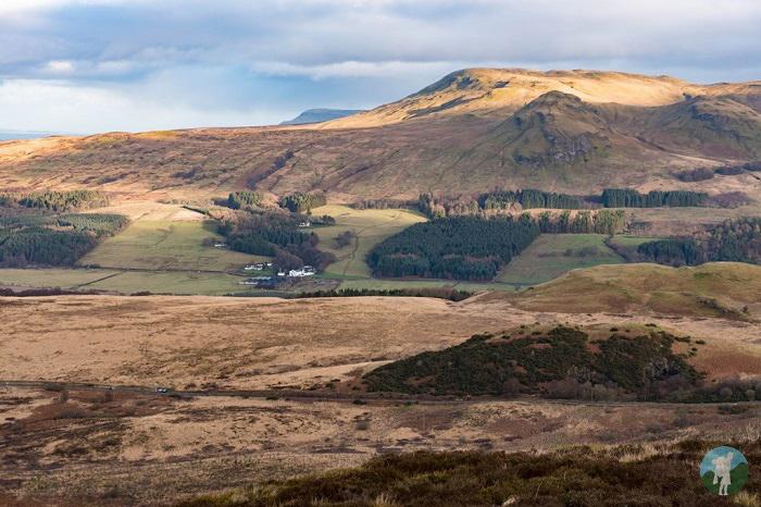 glengoyne distillery whangie winter walking scotland