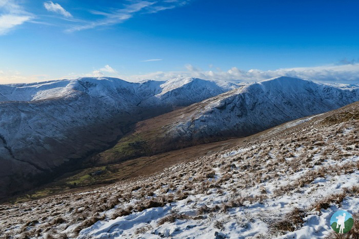 luss hills winter walking scotland
