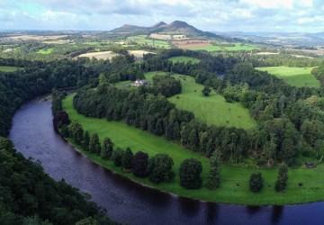 drone scott's view scottish borders