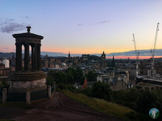calton hill edinburgh sunset