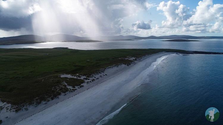 drone berneray beach