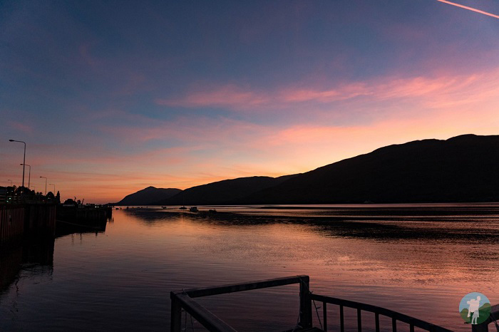 sunset fort william
