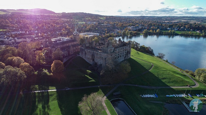 linlithgow palace drone