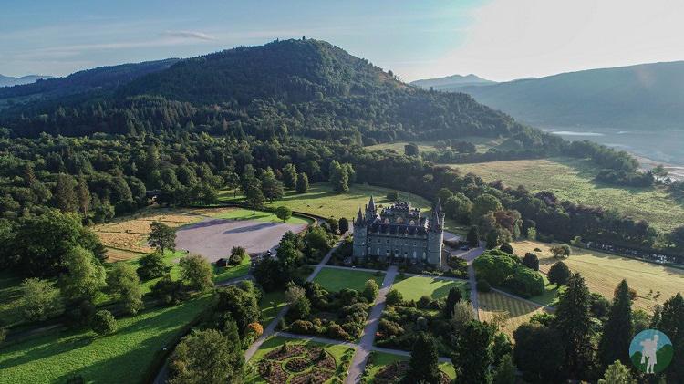 inveraray castle argyll aerial