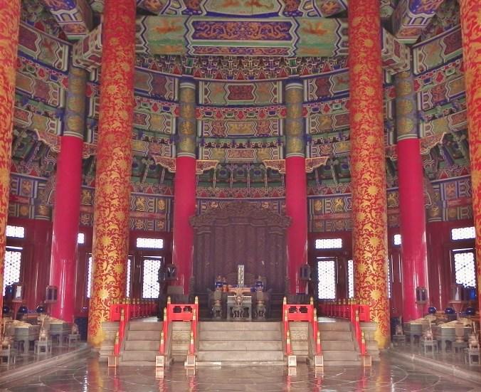 Beijing, Temple of Heaven, Throne