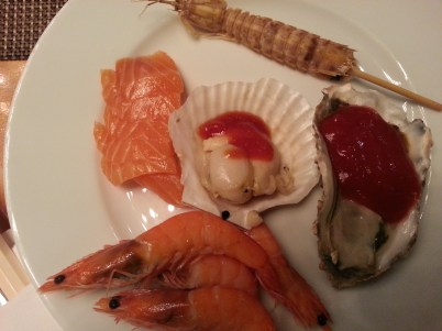 Guilin, Shangri-La, food, buffet, seafood