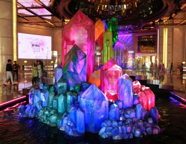 China, Hong Kong, Macau, Galaxy Casino, lobby, wishing crystals