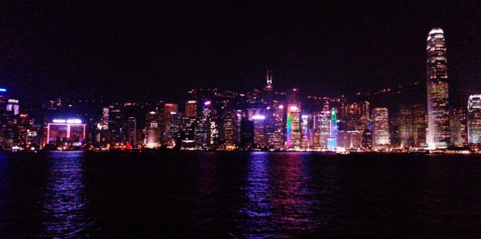 China, Hong Kong, Kowloon, Symphony of Lights, light show, skyline at night
