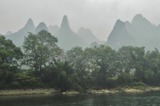 Guilin, Li River, karst, mountains